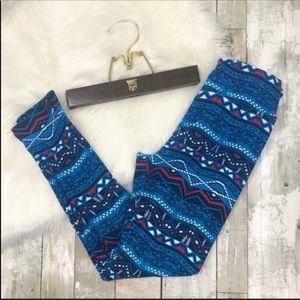 LULAROE Aztec Geometric Tribal Leggings OS